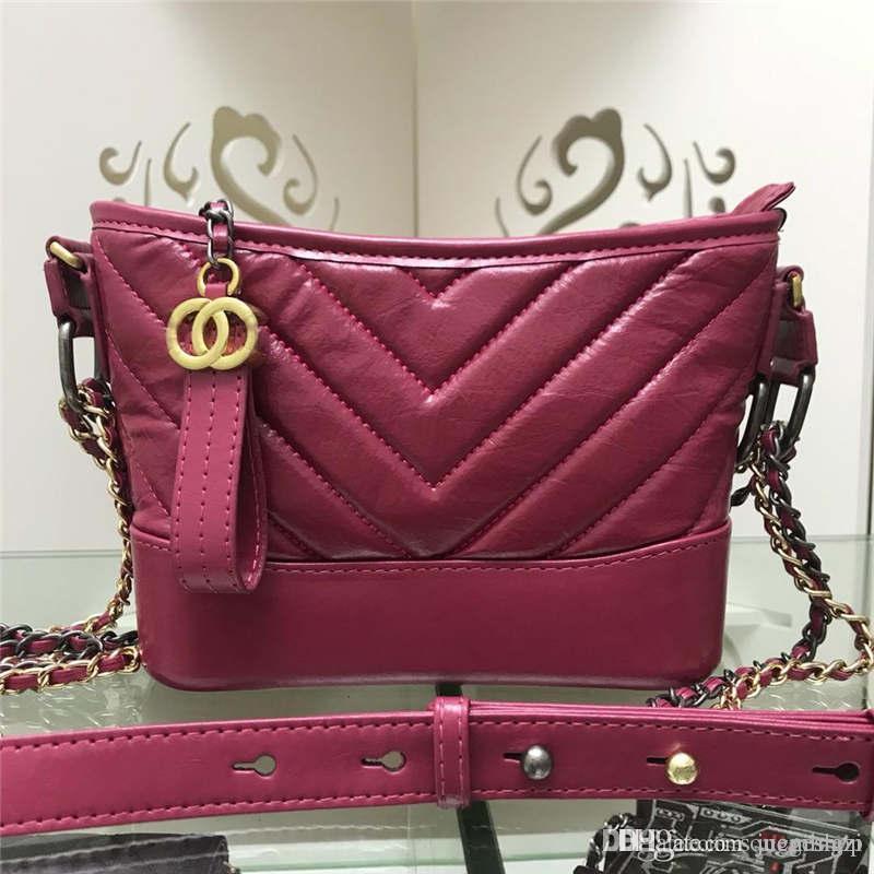 GG 2020 diseñadores Rojo acolchado Caviar cadena del hombro bolsa de 1016V Tamaño: 20 * 15 * 8cm