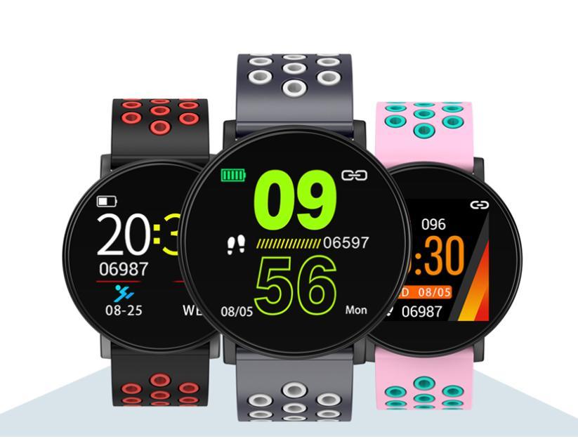 W8 الذكية ووتش مراقبة ذكي للياقة البدنية المقتفي الرياضة سيليكون معصمه ساعة ذكية IP67 أجهزة الروبوت متوافق مع صندوق البيع بالتجزئة