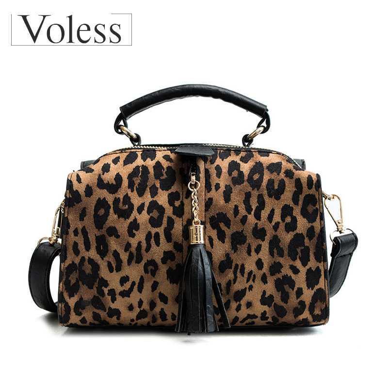 Nuova personalità di modo leopardo di Lady borse di alta qualità della nappa di spalla casuale selvaggio Messenger Bag Sac à main Bolsa Feminina