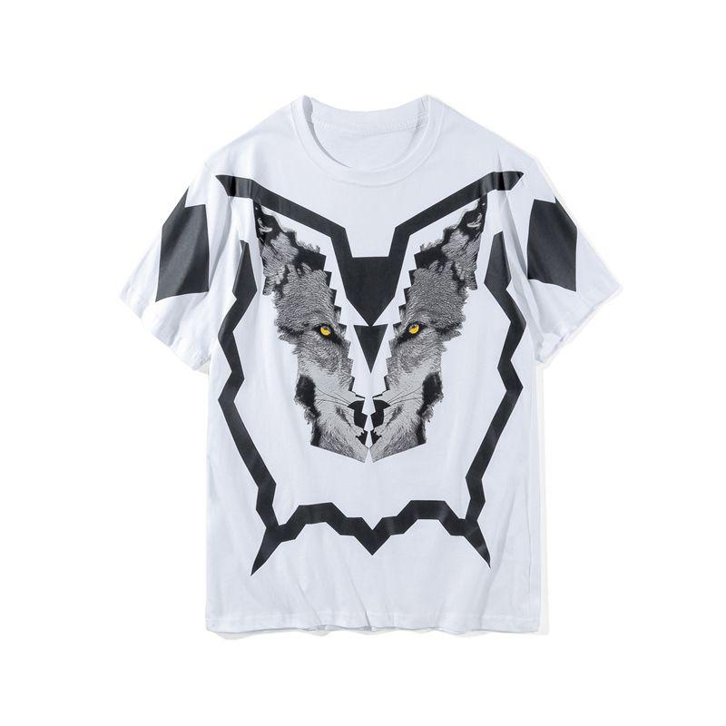 Mode-Männer Stylist-T-Shirt Sommer-Qualitäts-Männer Frauen 3D Printed Kurzarm Herren Stylist Tees Wolf Print Größe M-2XL