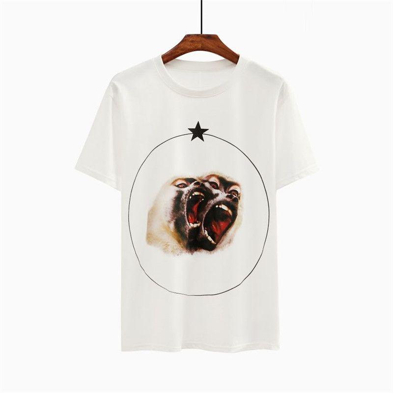 Erkek Stylist T Shirt Hayvan Baskı Kısa Kollu Gömlek Erkekler Kadınlar Çiftler Yüksek Kalite Tees Boyutu S-2XL