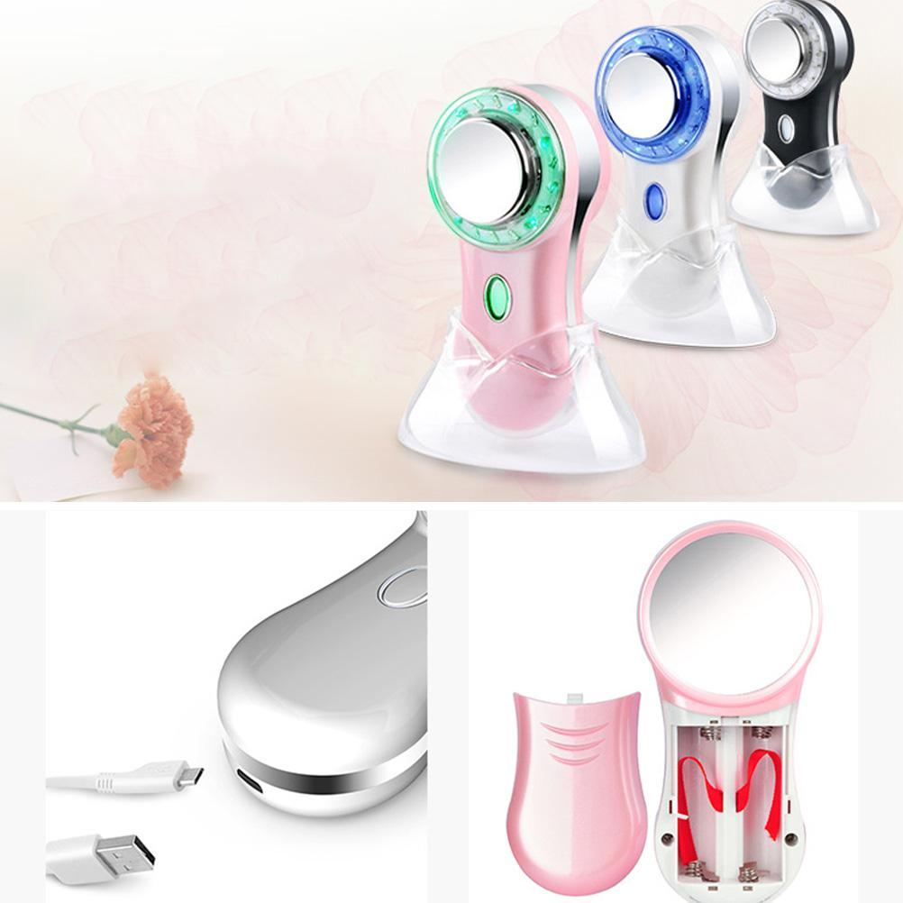 Appareil de beauté pour le visage Massager Massage Rouge Bleu Lumière Anti-Acné Instrument Thérapie LED Améliorer les bactéries de la peau sensible