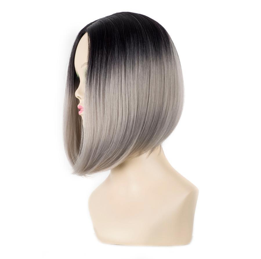 """Curto Bob cabelo Kanekalon For Women 10"""" Straight Synthetic Ombre Perucas resistente ao calor Kanekalon cabelo SaSSyGirL"""