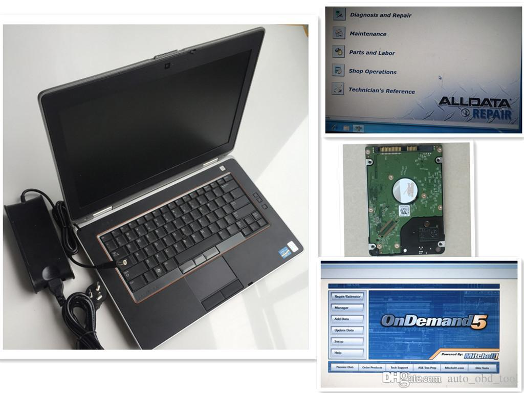 newest auto repair soft-ware 10.53 alldata m-itcellonde 2 in 1 1tb hdd installed used laptop E6420 4g ready use
