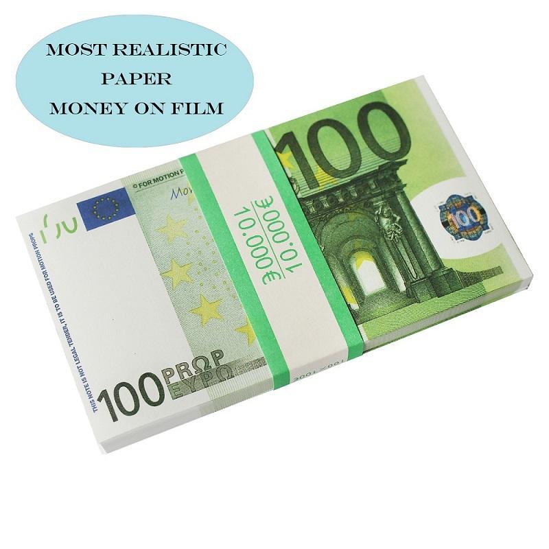 Всего продажа Prop Euro 10 20 50 100 поддельных денег расквартировать деньги фильма искусственной Заготовки евро 20 игр Сбор и подарки