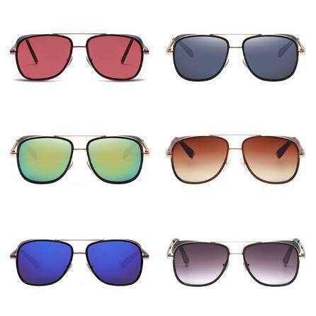 Gafas de sol Marca Gafas de sol Designer Barato Gafas Casuales Gafas Versátiles Doble Viga Hombres Mujeres Parabrisas Fashion Square Sunglasses