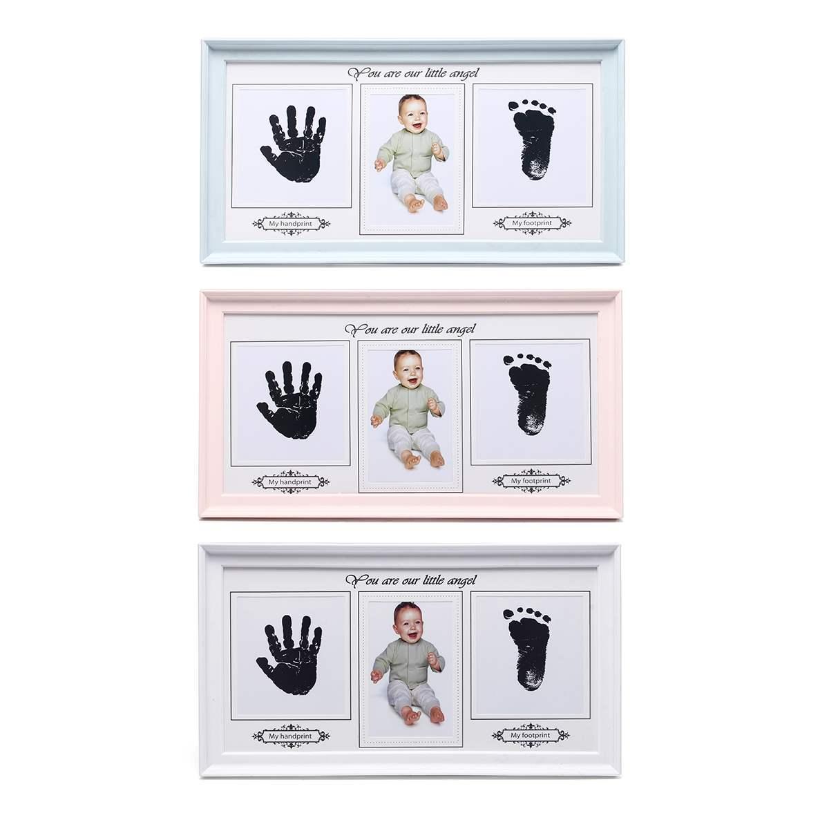 Baby-Foto-Rahmen Inkpad Cast-Set Ink-Pad-Spielzeug Impressum-Kit Lagerung Inkless Memento Foto-Rahmen-Andenken-Geschenk