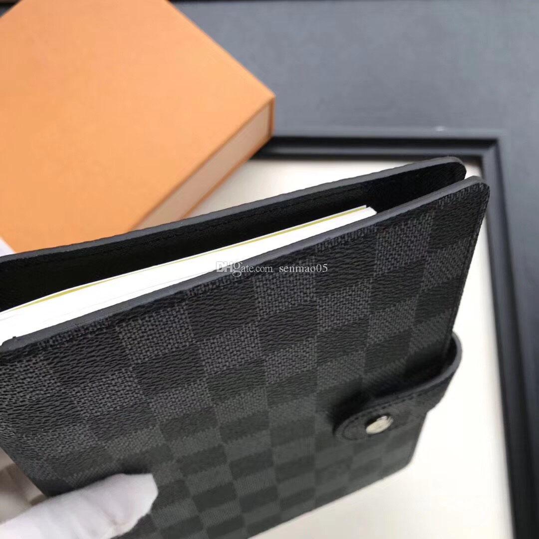 أسود مصمم محفظة من الجلد 14 * 18CM الرجال والنساء دفتر حامل بطاقة الائتمان المحفظة الكلاسيكية قماش مضاد للماء