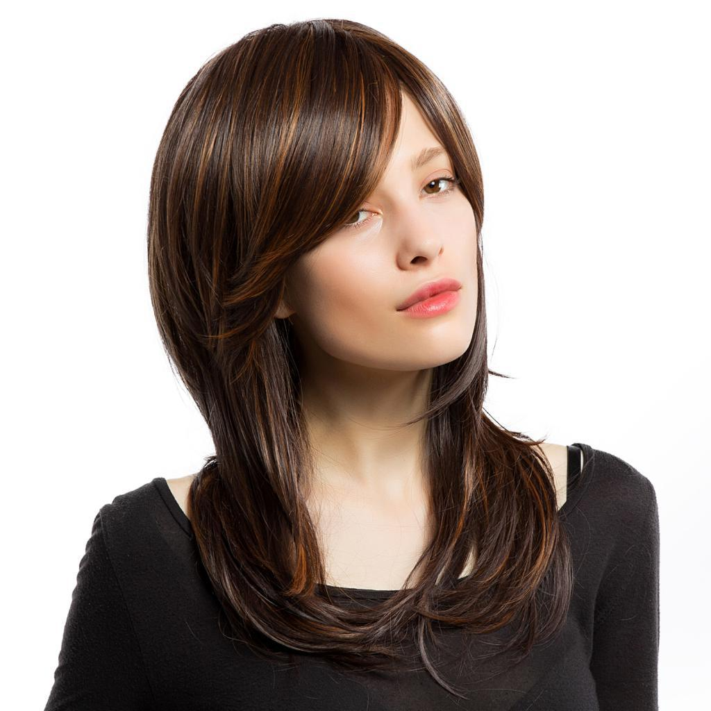 Beauty Women's Synthetic Hair Natural Straight Wig Mix Color Cosplay Full Head Wigs