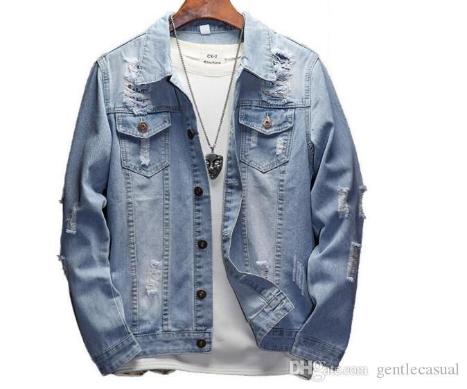En Çok Satan Erkek Denim Ceket Erkekler Rasgele Bombacı Ceket Erkekler iyi Kalite Man Vintage Jean Ceket Coat Streetwear