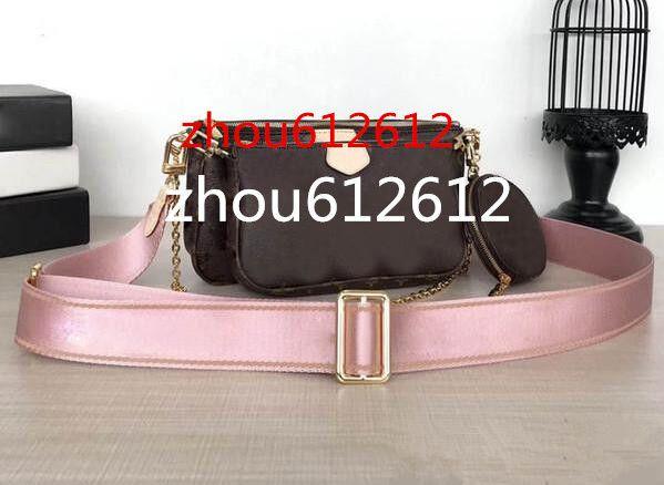 أحدث الحقائب وTHREE مع جولة MULTI POCHETTE M44813 M44823 M44840 ACCESSOIRES جيوب النساء CROSSBODY يد محفظة الحقيبة محفظة نقود