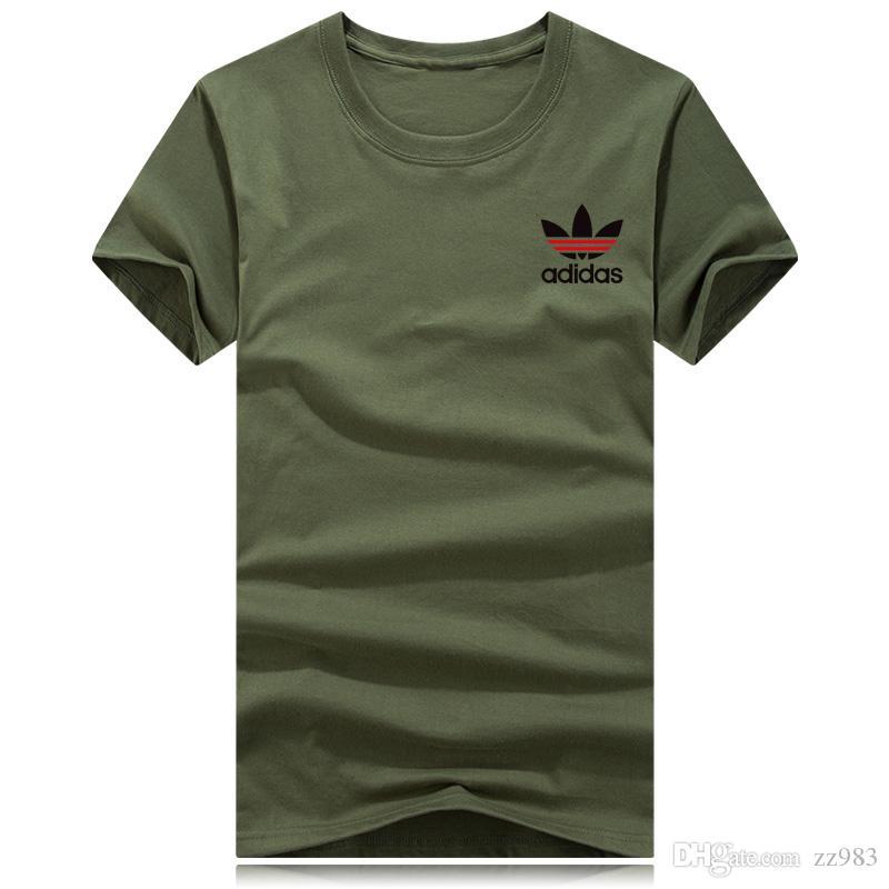 Hombres Impreso Camisetas de algodón Casual Manga corta O-cuello Camiseta Hombres Camisetas deportivas Camisetas Hommen
