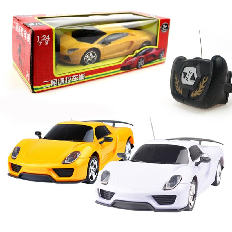 Luxo RC Sportscar Carros Controle Remoto Car Coke Mini RC Radio Remote Control Racing Micro Toy 1:24 2 Channel Car 1452 M-Racer