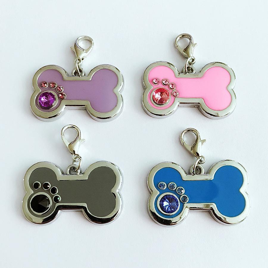 Porte-clefs Porte-clés d'os de chien de patte de chien Design Keychain Pendentif Anneau Porte-nouvelle mode pour animaux Colliers Charms Accessoires pour chiens Cadeaux Lovers