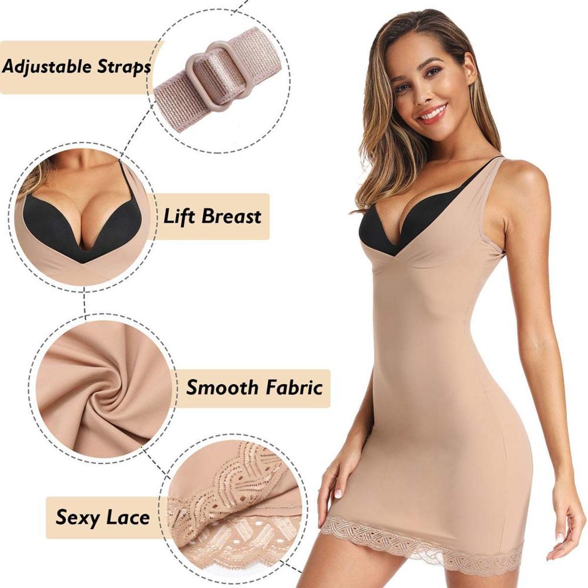 New Tummy amincissants Minceur Contrôle Glissades Sous-vêtements Corset Bodysuit Robe sexy taille Entraîneur Femmes Robe Full Body Shaper Cami