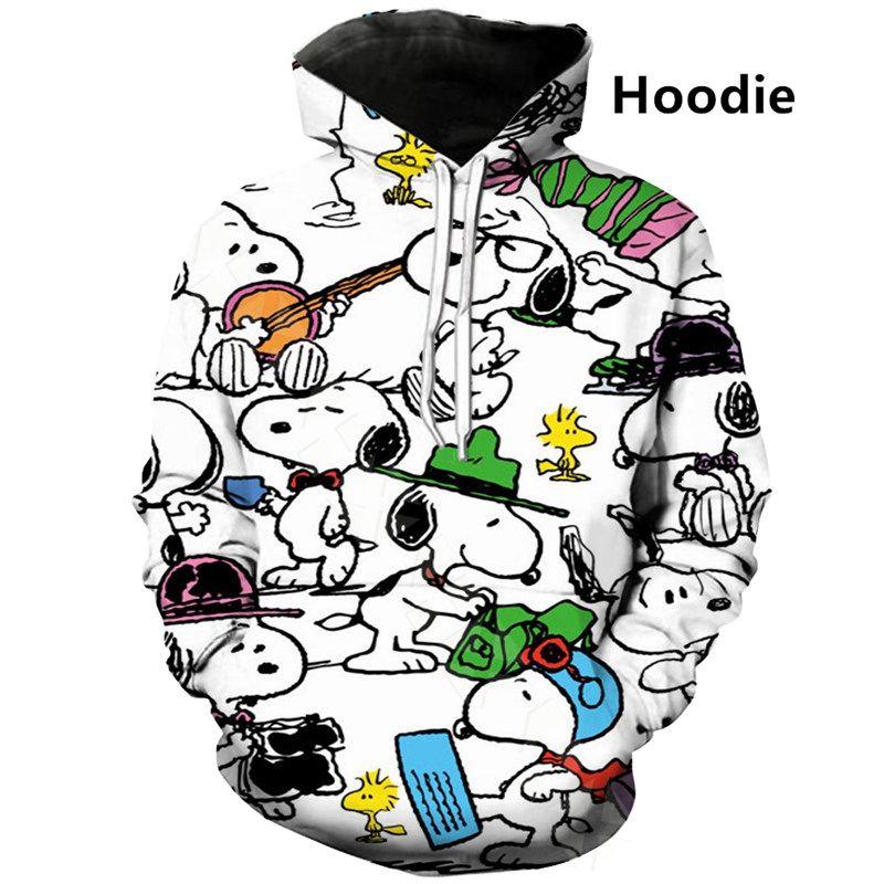 New brand Cartoon Snoopy 3D Print Hoodie Unisex Harajuku Streetwear Style Tops