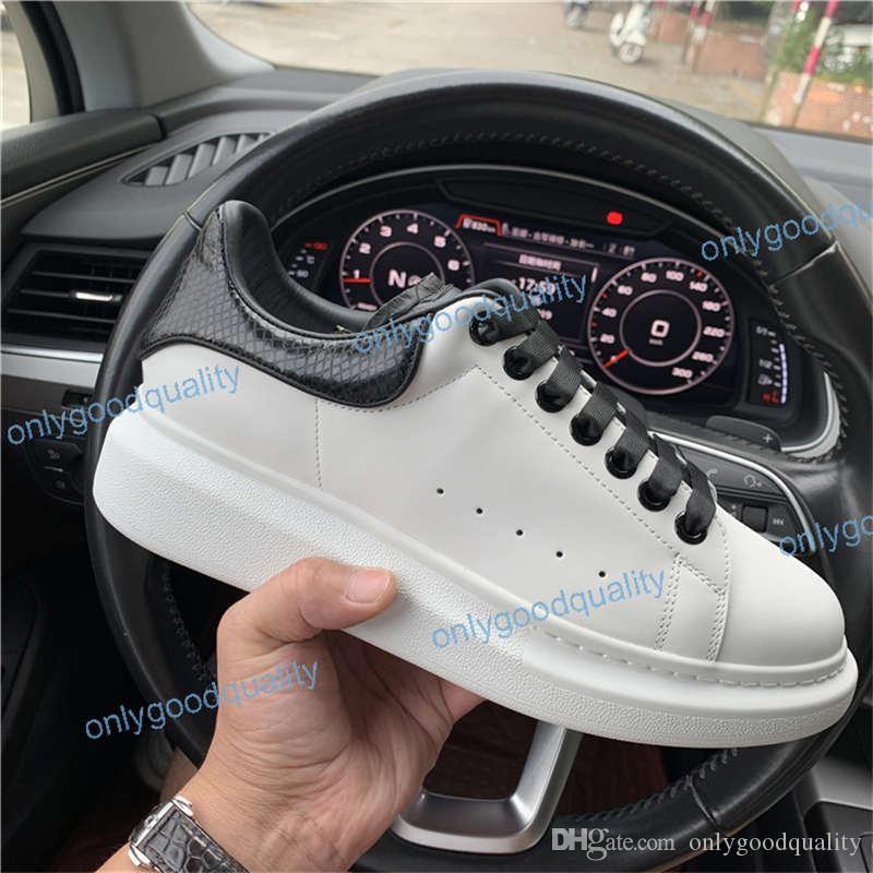 2019 Erkek Tasarımcı ayakkabı beyaz deri 3 M yansıtıcı rahat kız kadınlar için siyah altın kırmızı moda rahat düz spor sneaker boyutu 35-46