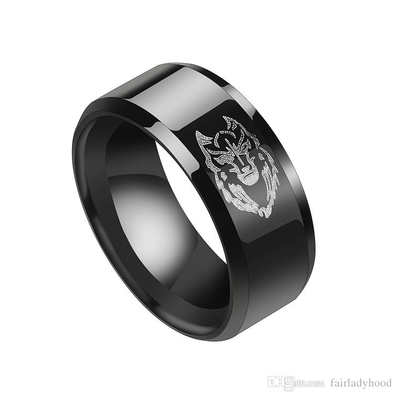 Men's Fashion Stainless Steel Jewelry Cool Animal Lion Head Ring Punk Personality product for man