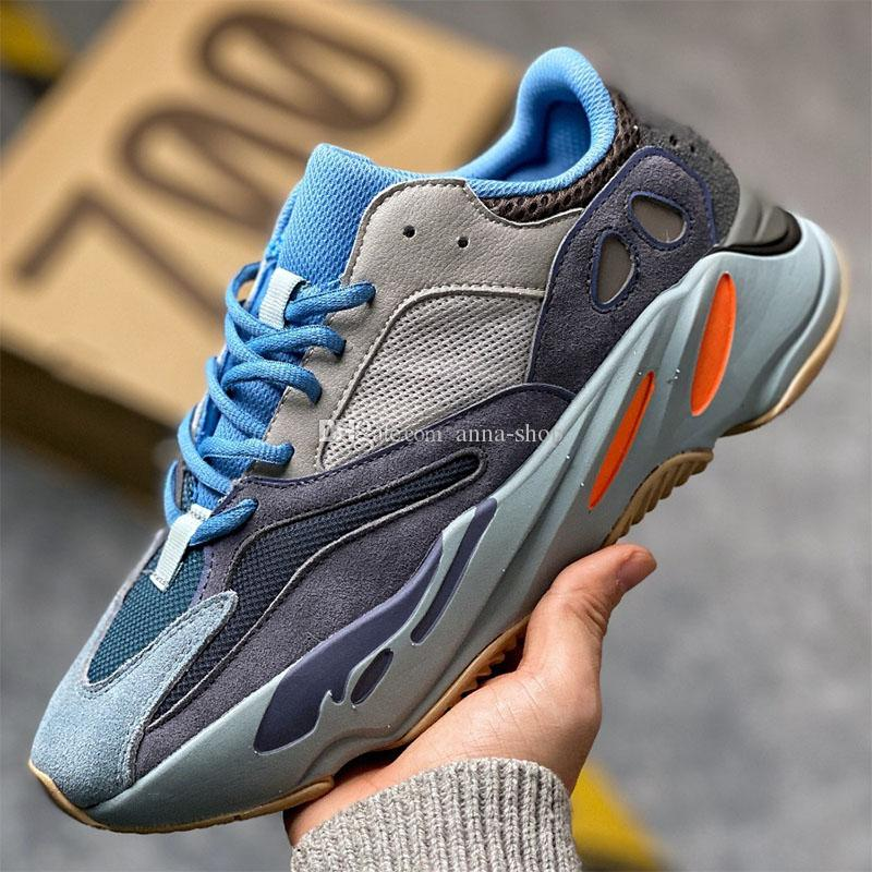 Kanye West 700 Carbon Blue Sneaker per uomo Kanyewest Air Sneakers Mens Max Sports Scarpe da donna Scarpe da donna da donna Scarpe da donna Casuals Casual Trainer