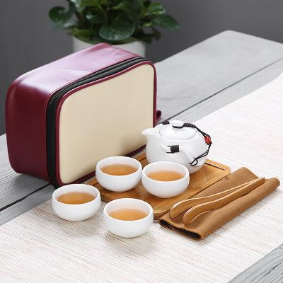 2020 1set Dehua Ceramic Celadon Gift Box Kung Fu Tea Set teapot gift set Travel Set