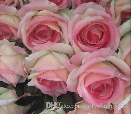 Fleurs en soie pour mariage fleur artificielle bouquet de mariée roses dahlias tombent vif faux feuille fleur de mariage bouquets de mariée décoration