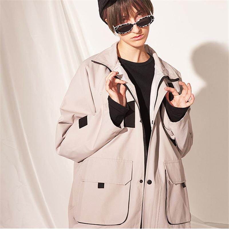 Atacado Mens Womens Designer Marca Windbreakers Moda Fique Collar Carta Imprimir Jackets Cinzento Preto Casacos Casacos Top Quality B101774V