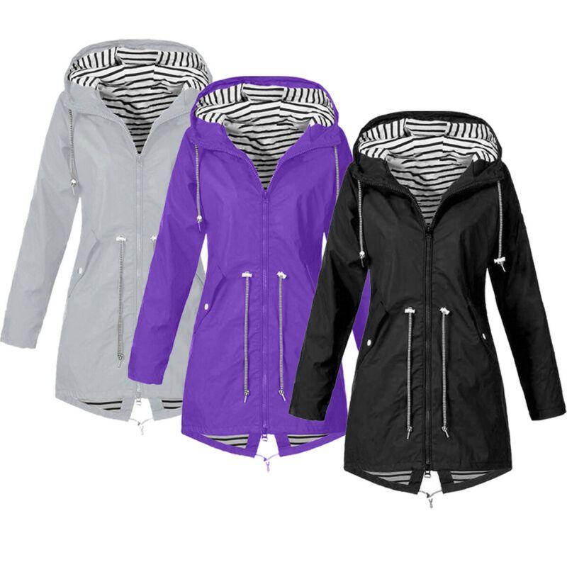 Inverno di autunno delle donne cappotto incappucciato antivento Parka Trench Outwear vestiti caldi più il formato militare a maniche lunghe giacche S-5XL