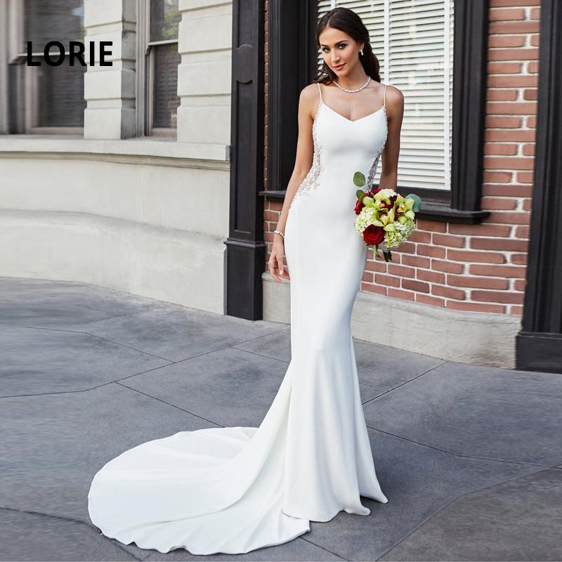 Mermaid Wedding Dresses Lace Appliques with Beading Bride Dress Sexy Backless Wedding Gowns Soft Satin Wedding Dress