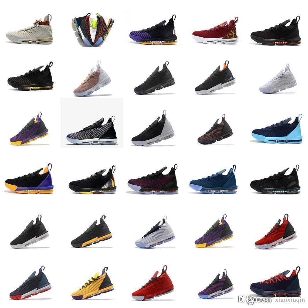 Mens lebron 16 chaussures de basket-ball MVP thru 5 Red 1 Roi Oreo Blanc Violet Noir Jaune Bred tennis jeunes enfants de génération avec la boîte