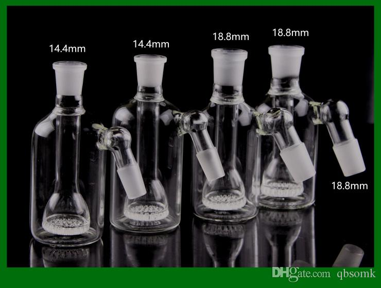 Capteurs de cendres en verre QBsomk 14mm 18mm 45 à 90 degrés avec bols en verre de 14mm Percolateur pour pneu Ashcatcher de 14mm