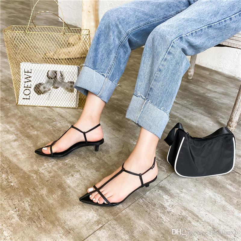 Женщины сандалии новый низкий тонкий каблук платье обувь лето пляж открытый Гладиатор повседневная сандалии узкая полоса zapatos mujer