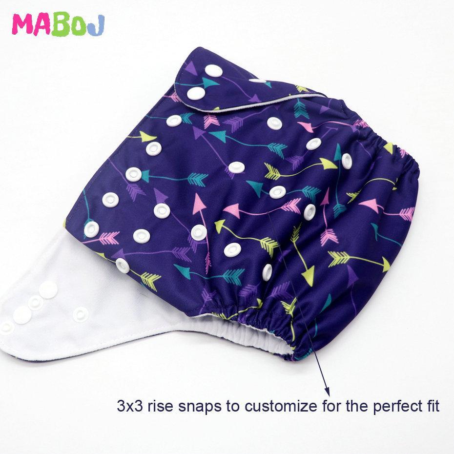 MABOJ pañales pañal de bolsillo 1pcs los pañales del paño del bebé del pañal lavable reutilizable cubierta Trajes Nacimiento Para ir al baño Un tamaño Pañales inserciones