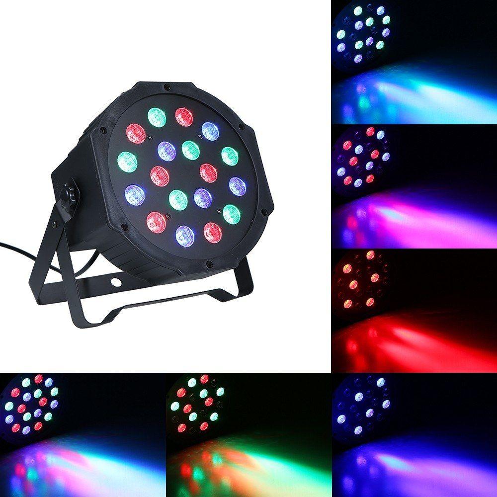 LED Stage Par Lumière Lumière Sonore Auto Activé Effets Lumières Lampe RGB DMX Éclairage Pour La Fête À Domicile KTV DJ Disco Club De Noël