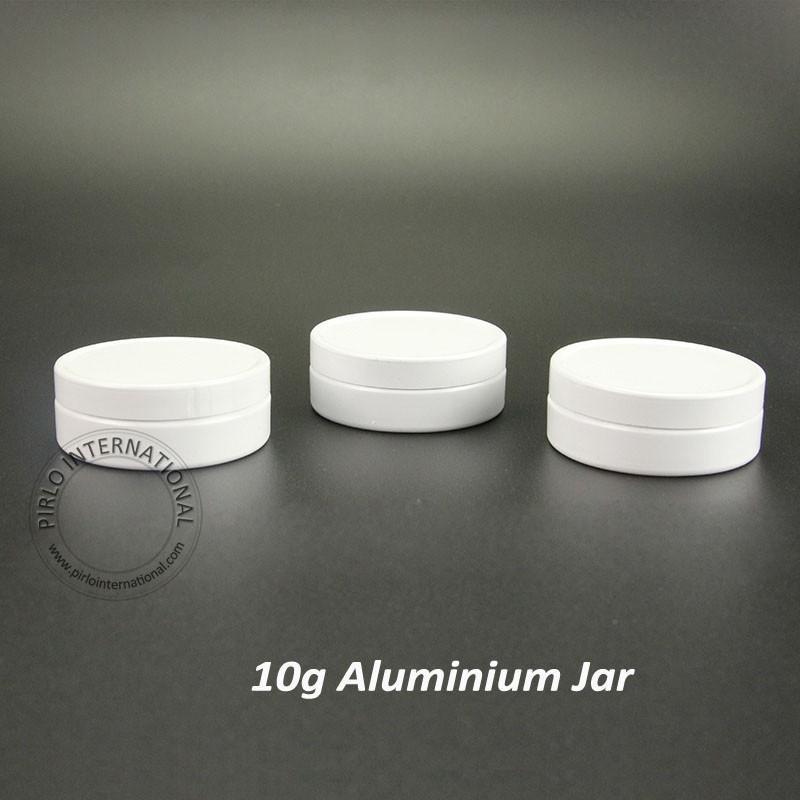 50шт 39*15мм 10г мини белые баночки алюминий путешествия портативный пустой контейнер для образцов Покры косметическая коробка металлической банки