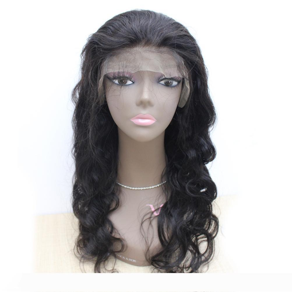 "A Brazilian Virgin Human hair wigs body wave 130% density 1B full lace wigs or lace front wigs for black women 10""-30"""