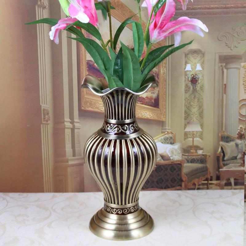 Big Size H 39 7cm Vintage Metal Vase European Tabletop Decoration Flower Vases Art Craft Home Decor Hotel Living Room Ornaments Tall Vases For Cheap Tall Vases For Sale From Fugao001 141 78 Dhgate Com