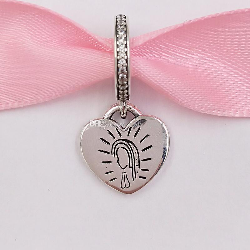 Authentic 925 sterling silver perline charms adatti collana di braccialetti di gioielli in stile Pandora europeo 325