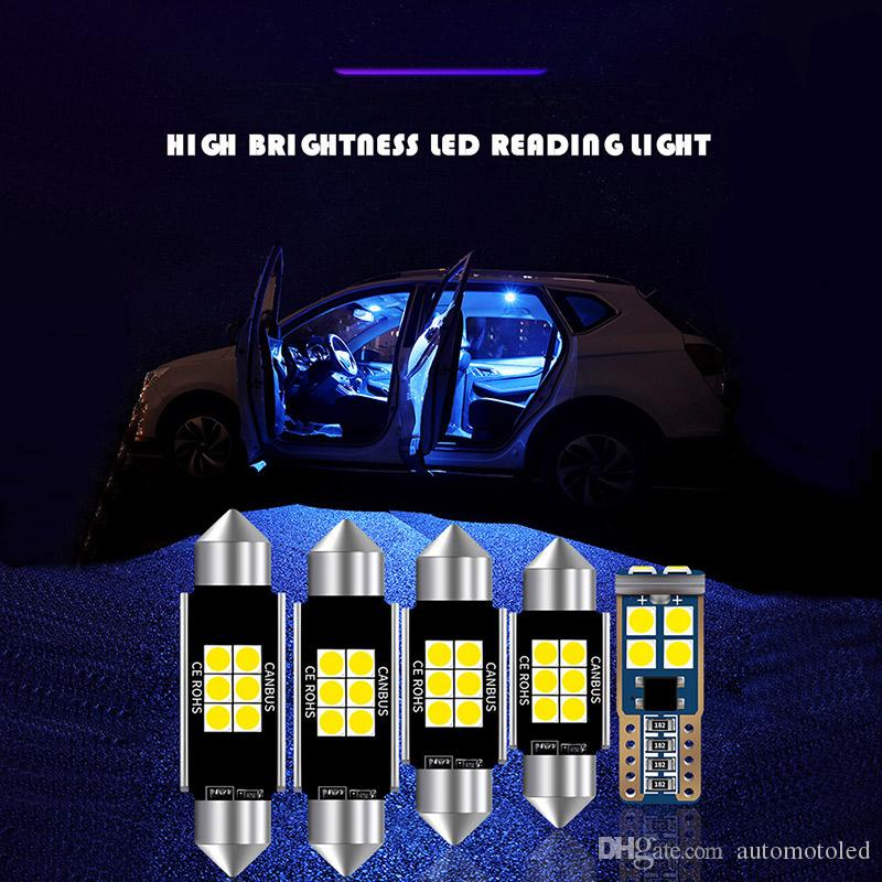 12 개 31 미리 메터 36 미리 메터 39 미리 메터 41 미리 메터 T10 슈퍼 밝은 6SMD LED 꽃줄 전구 C5W 자동차 돔 빛 Canbus 오류 자동 인테리어 독서 램프