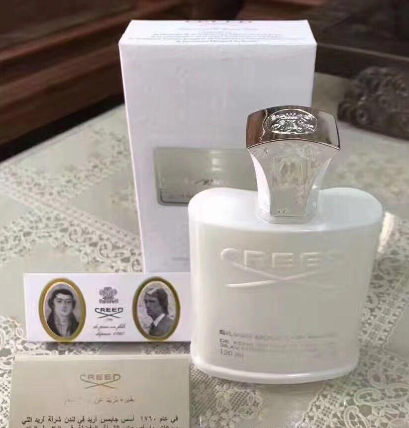 Salute Bellezza profumo Creed Sliver Acqua di montagna per uomo Colonia 120 ml Fragranza con tempo di lunga durata Buono odore gratis