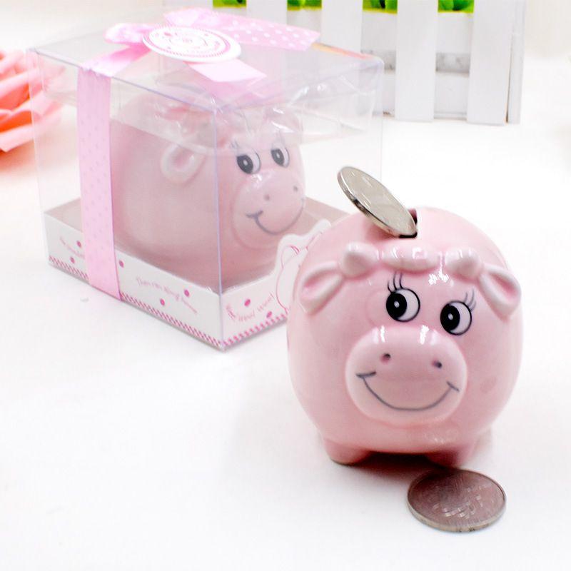 Ceramic Mini Cow Piggy Bank In Gift Box