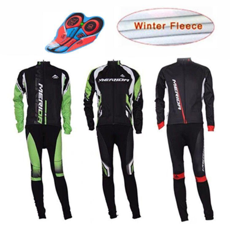 invernale MERIDA pile Jersey caldo squadra vestito ciclismo tuta squadra divisa da corsa