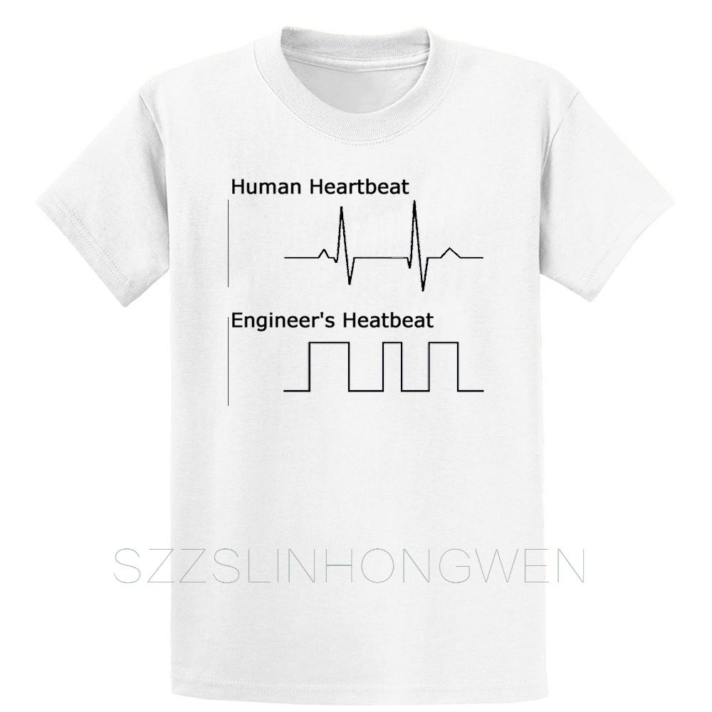 Unisex Baby Cotton Shirt Dinosaur Heartbeat T-Shirt