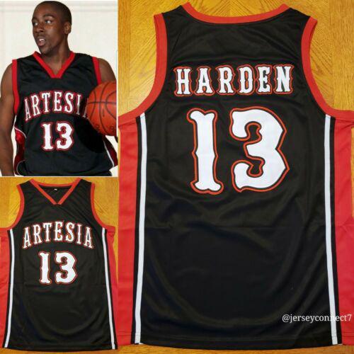 james Lakewood Aditya High School de endurecer # 13 faculdade preto branco dos homens Retro Basketball Jersey costurado Personalizado Número Nome Jerseys
