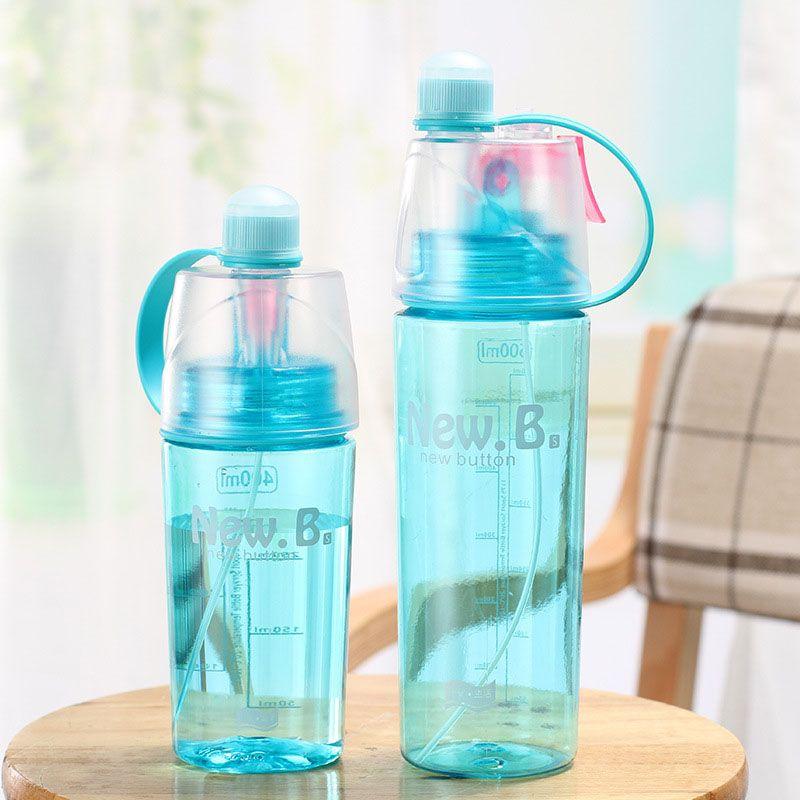 400ml 600ml Portable Outdoor Leakproof Spray Water Bottle Plastic Sports Kettle