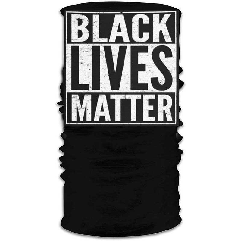 На складе 2020 Горячий черный Lives Matter США Конструктор шарф моющийся многоразовый маска Защитная маска Ткань Велоспорт Маски для лица C0502