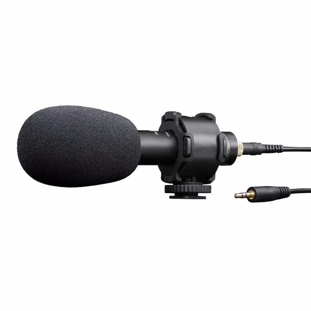 1 Stück Conderser Interview Mikrofon mit Kabel für Video Camcorder Kamera