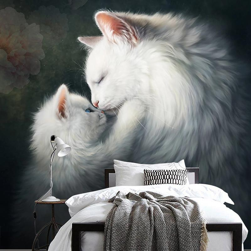Custom Wall Mural Beautiful Cute Cat Hd Oil Painting Modern Art Entrance Living Room Bedroom Home Wall Decoration Wallpaper 3d Home Wallpaper Horse Wallpaper From Adeir 17 46 Dhgate Com