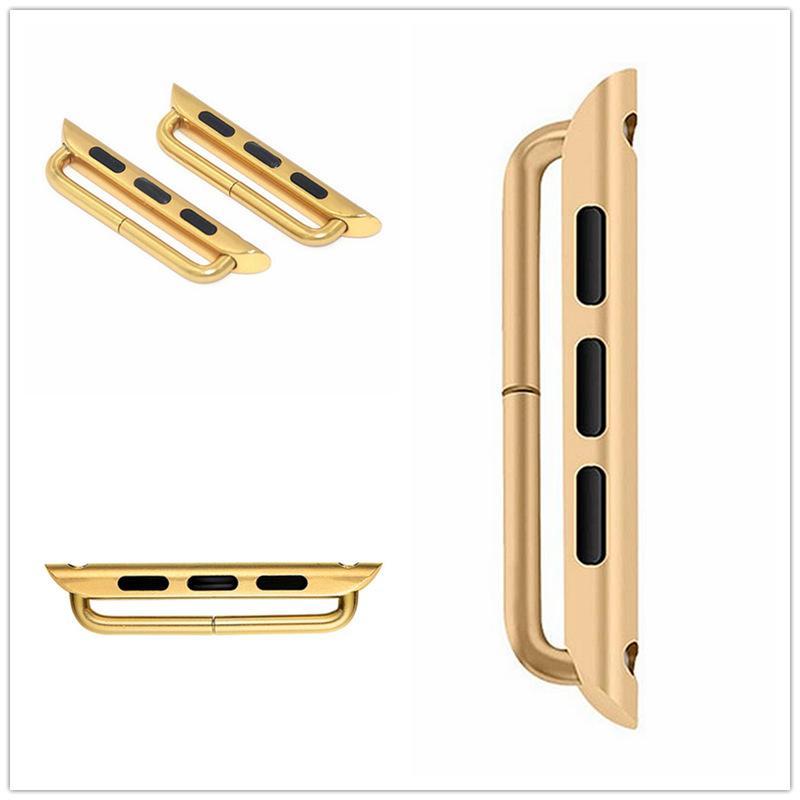 Acciaio inossidabile connettore dell'adattatore cinturino con fibbia Per Apple Osservare serie 6 5 4 3 2 1 SE 38 40 42 44 millimetri 1Pair + 1 cacciavite 50pari / lot