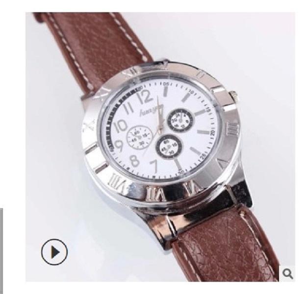 2020 la vendita calda Accendini personali vigilanza creativa di ricarica dell'orologio di sigarette in metallo uomini Accendino USB più leggero