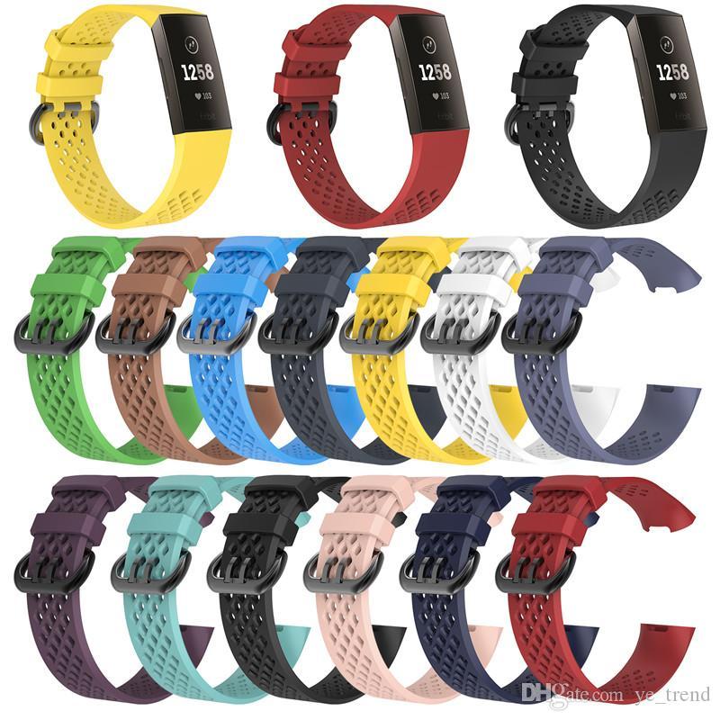 ل Fitbit Charge3 سيليكون الفرقة حزام شبكة الرياضة الذكية watchband معصمه الملحقات ووتش العصابات تنفس سوار Charge 3